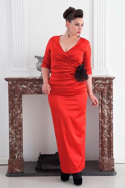 Long Evening Dress poppy red