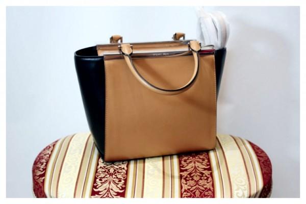 (NEU) Bicolor Lederhandtasche