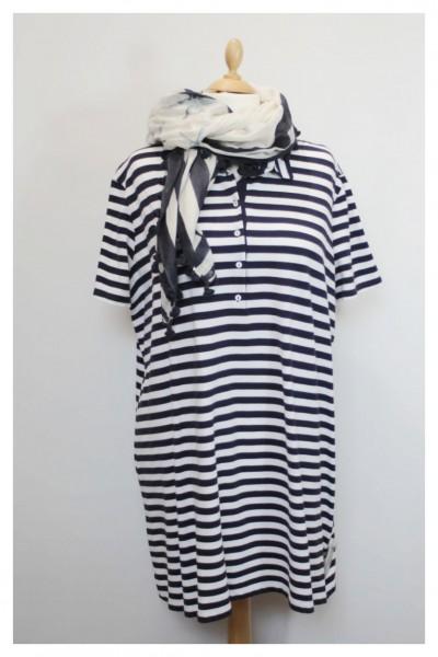 T-Shirt-Kleid im Marinelook