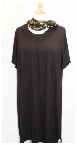 Kleid schwarz mit Raffungen