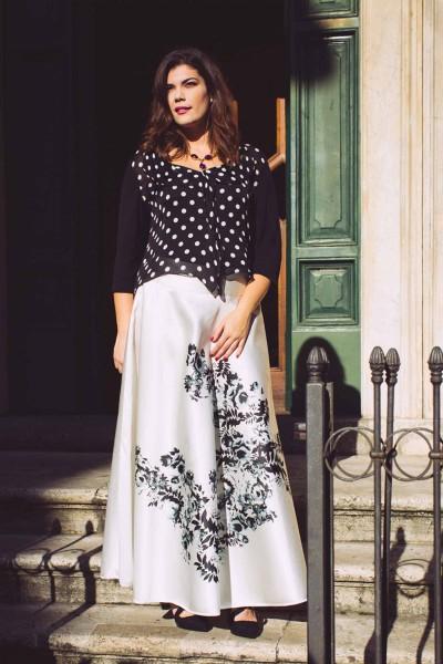 "Maxi Silk Skirt ""Duchesse"""